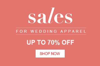 Sales for wedding apparels