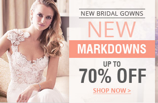New Markdowns On New Bridal Gowns