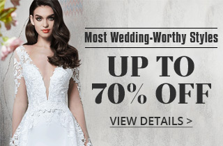 Trending Now: Up To 70% Off For Most Wedding-Worthy Styles